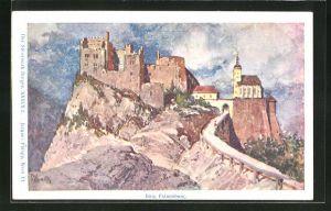 Künstler-AK Franz Kopallik, Philipp + Kramer Nr. XXXVII /2: Der Steiermark Burgen, Burg Frauenburg