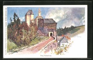 Künstler-AK Franz Kopallik, Philipp + Kramer Nr. XXXVII /4: Der Steiermark Burgen, Burg Festenburg