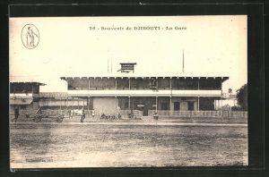 AK Djibouti, La Gare, Ansicht vom Bahnhof