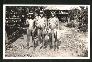 AK Panama, Indios vom Stamm der Chokoi