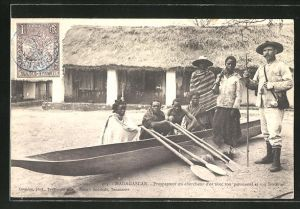AK Madagascar, Prospecteur avec son personnel et son materiel