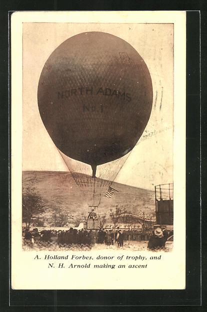 AK North Adams, MA, Ballon startet auf dem Flugfeld