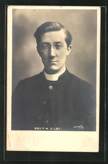 AK Rev. F. W. Gilby, Missionar und Lehrer für Gehörlose