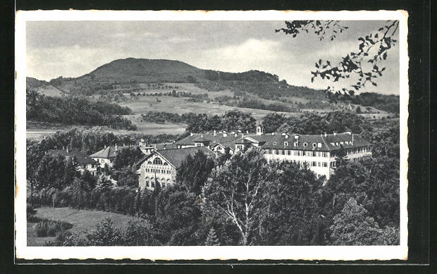 AK Bad Boll / Württbg., Blick auf das Kurhaus, Turmberg und Aichelberg