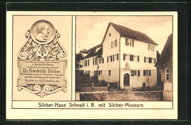 AK Schnait i. R., Silcher-Haus & Silcher-Museum