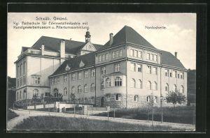 AK Schwäb. Gmünd, Kgl. Fachschule für Edelmetallindustrie mit Kunstgewerbemuseum und Altertumssammlung