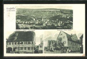 AK Geradstetten / Remstal, Gasthaus zum Lamm, Bäckerei von Ernst Bühler