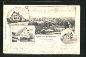 AK Dietersweiler, Ortsansicht, Gasthaus zur Krone, Gasthaus zum Pflug und Pfarrhaus