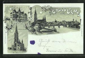 Mondschein-Lithographie Ulm, Ulmer Münster, Saalbau