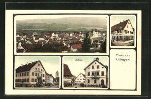AK Aidlingen, Gasthaus zum Rössle, Rathaus, Handlung Johannes Schmidt