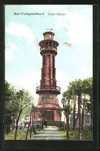 AK Bad Freienwalde a. O., Blick auf das Kriegerdenkmal