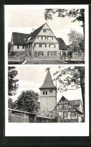 AK Endersbach i. R., Gasthaus zum Lamm und Metzgerei von Karl Reichle