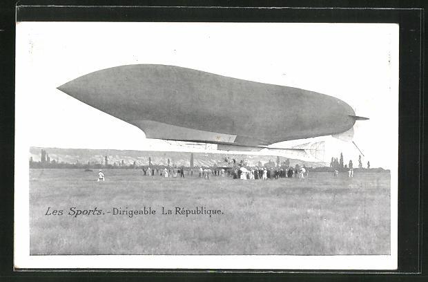 AK Les Sports, Dirigeable La République, Zeppelin