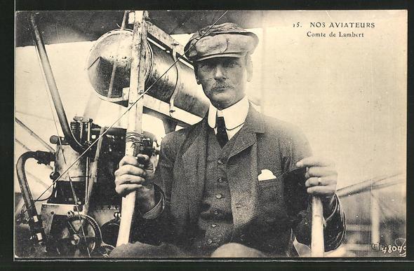 AK Nos Aviateurs, Comte de Lambert, Flugzeug 0
