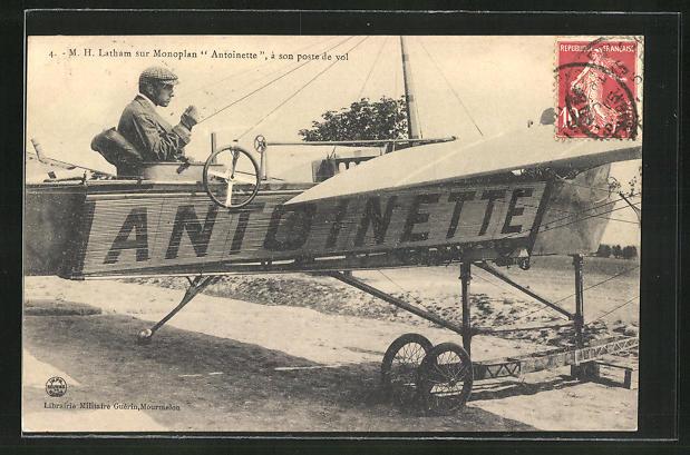 AK M. H. Latham sur Monoplan