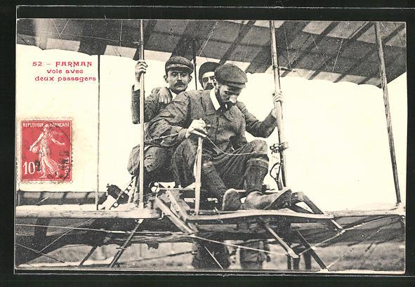 AK Farman voie avee deux passagers, Flugzeug 0