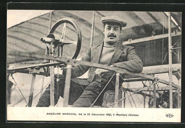 AK Anselme Marchal, Né le 23 Decembre 1882, á Moutiers, Flugzeug 0