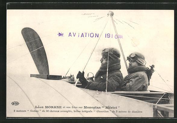 AK Leon Morane et son frére sur Monoplan
