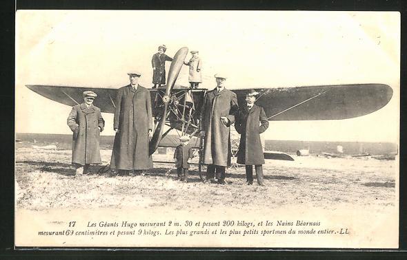 AK Les Géants Hugo, Flugzeug