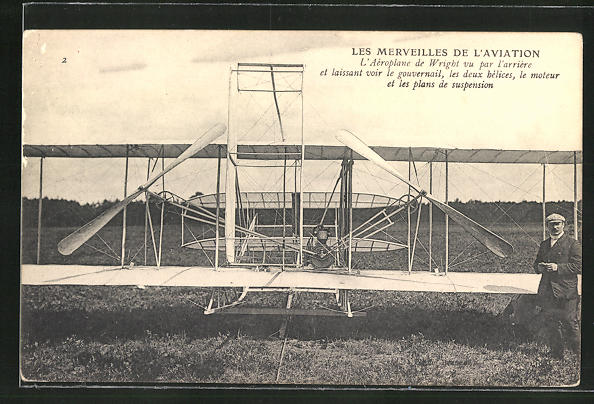 AK Les Merveilles de L'Aviation, L'Aeroplane des Wright, Flugzeug