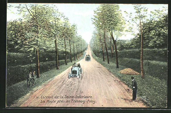 AK Circuit de la Seine-Interieure, La Route pres de Fresnoy-Folny, Autorennen