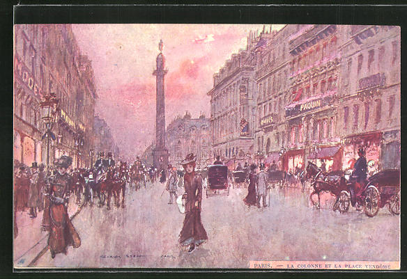 Künstler-AK Georges Stein: Paris, La Colonne et la Place Vendome 0