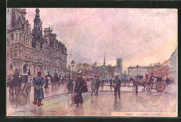 Künstler-AK Georges Stein: Paris, L'Hotel de Ville 0