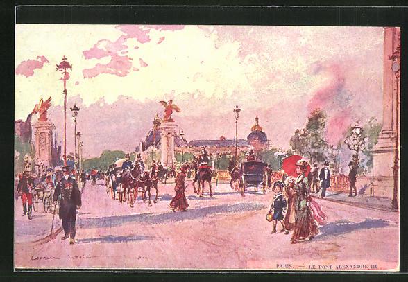 Künstler-AK Georges Stein: Paris, Le Pont Alexandre III 0