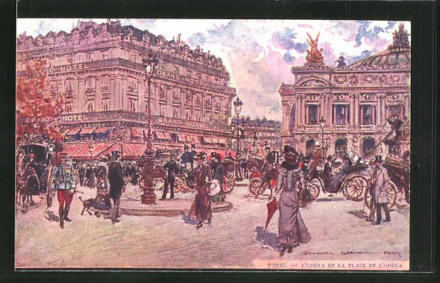 Künstler-AK Georges Stein: Paris, L'Opera et la Plage de L'Opera 0