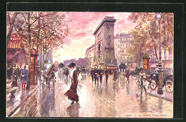 Künstler-AK Georges Stein: Paris, La Porte Saint-Denis 0