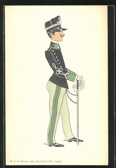 AK Karikatur eines italienischen Soldaten 0