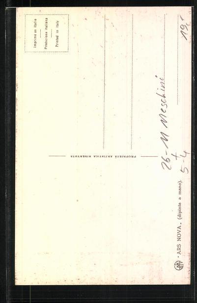 Künstler-AK sign. G. Meschini: Schatten eines Liebespaars auf einer Mauer, Art Deco 1