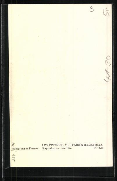 Künstler-AK Compagnie de débarquement, Maitre, Fusilier-Marin 1