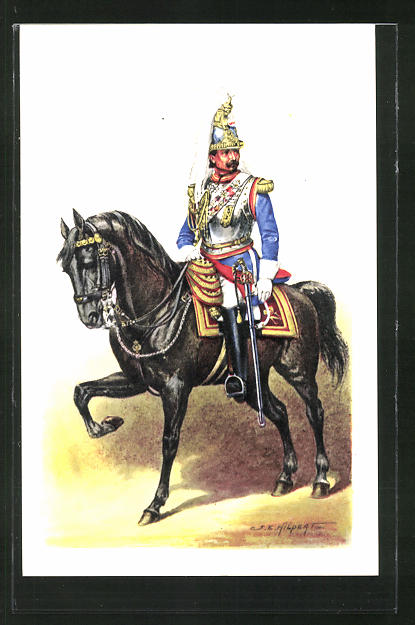 Künstler-AK Cent Gardes, Colonel Verly - Grande Tenue