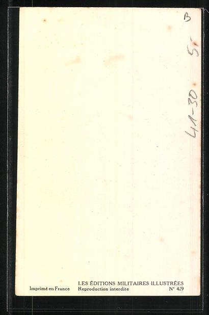 Künstler-AK Besatzung eines französischen Kriegsschiffes, Lieutenant Vaisseau, Tenue de bord 1