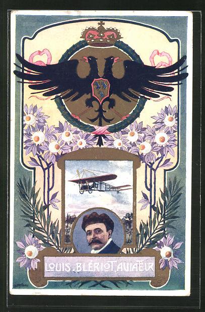 AK Aviateur / Flugzeug-Pionier Louis Blériot
