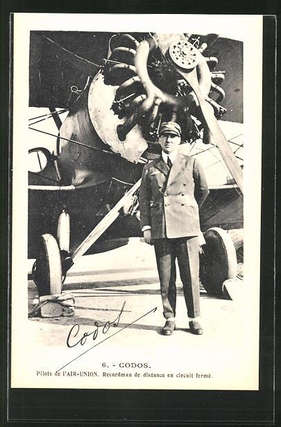 AK Codos, Pilote de l'Air-Union, Recordman de distance en circuit fermé