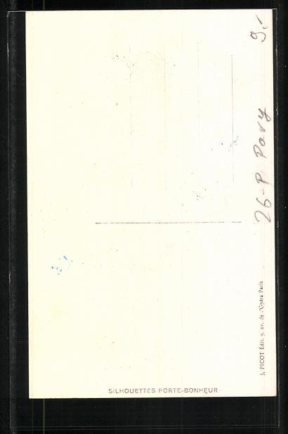 Künstler-AK sign. S. Pavy: Elegante Dame mit einer Girlande aus Maiglöckchen 1