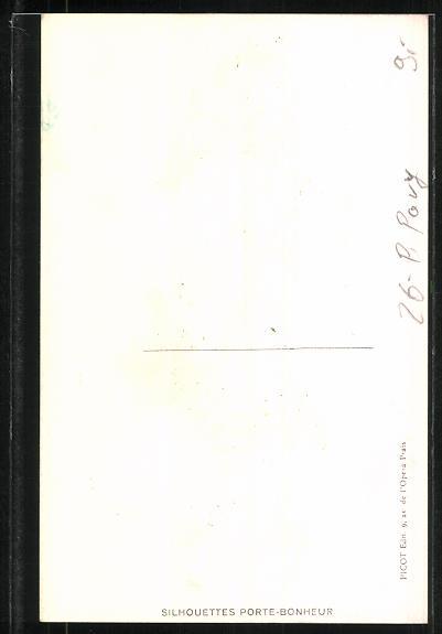 Künstler-AK sign. S. Pavy: Elegante Dame in gelbem Kleid mit Maiglöckchen 1