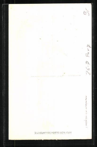 Künstler-AK sign. S. Pavy: Elegante Dame in grünem Kleid mit Maiglöckchen 1