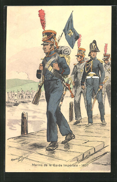 Künstler-AK Marins de la Garde Impériale 1807