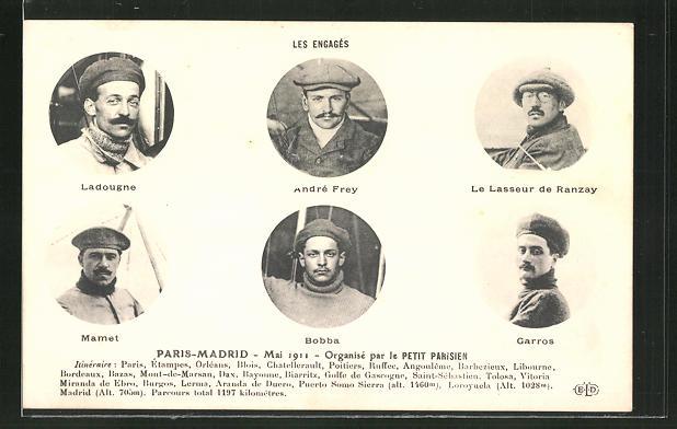 AK Paris-Madrid 1911, Organisé par le Petit Parisien 0