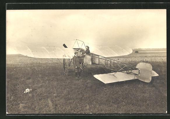 AK Flugzeug-Pioniere mit ihrer Maschine 0