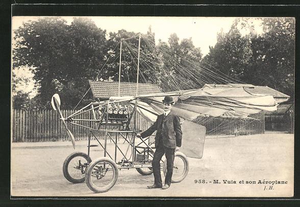 AK Flugzeug-Pioniere und ihre Maschinen, M. Vuia et son Aéroplane