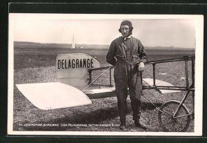 AK Flugzeug-Pioniere und ihre Maschinen, Leon Delagrange sur son Monoplan Blériot
