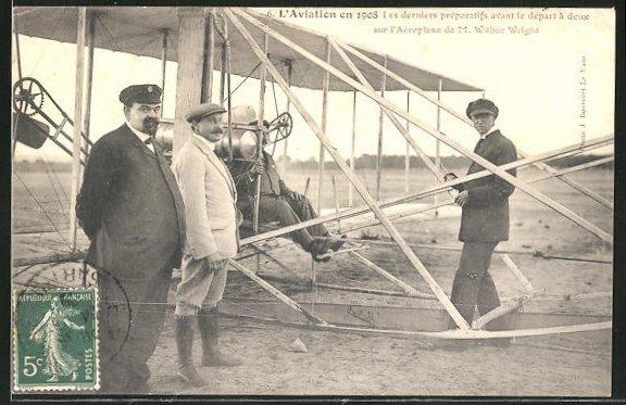 AK Flugzeug-Pioniere und ihre Maschinen, Aeroplane von M. Wilbur Wright 0