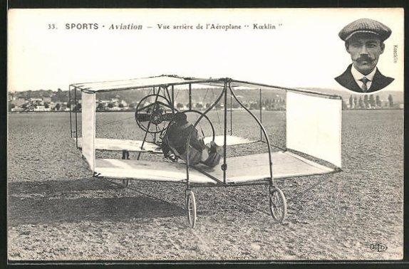 AK Flugzeug-Pioniere und ihre Maschinen, Koecklin und sein Flugapparat