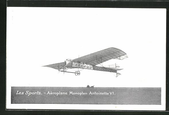 AK Aéroplane-Monoplan Antoinette VI, Frühes Flugzeug