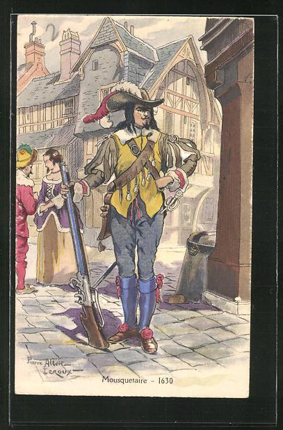 Künstler-AK Mousquetaire / Musketier um 1630 0