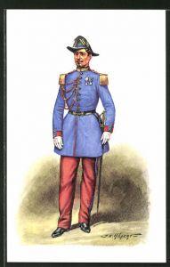 Künstler-AK Cent Gardes, Tenue de sortie 1858